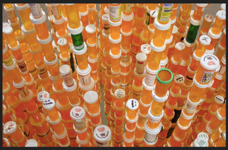 Mountains of Pill Bottles